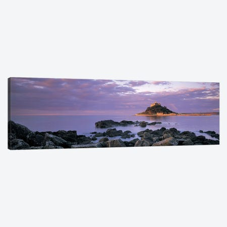 Distant View Of St Michael's Mount, Mount's Bay, Cornwall, England, United Kingdom Canvas Print #PIM4870} by Panoramic Images Canvas Wall Art