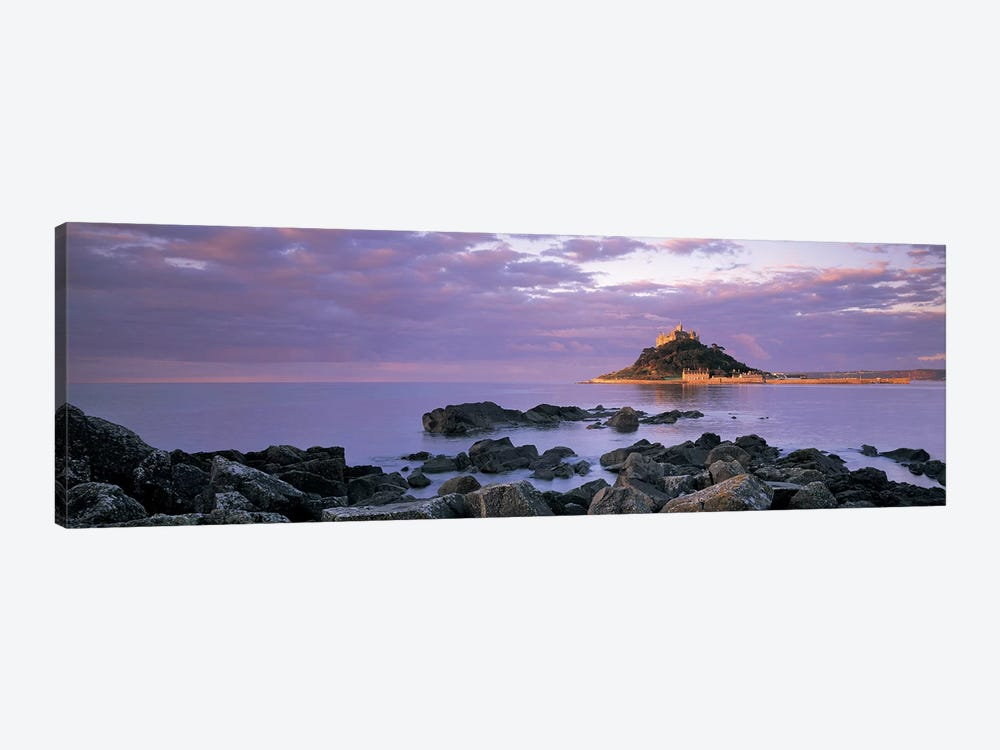 Distant View Of St Michael's Mount, Mount's Bay, Cornwall, England, United Kingdom by Panoramic Images 1-piece Canvas Wall Art