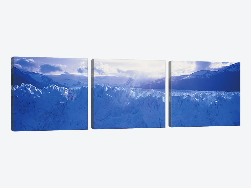 Perito Moreno Glacier Under A Beaming Sun, Los Glaciares National Park, Santa Cruz Province, Patagonia, Argentina by Panoramic Images 3-piece Canvas Art Print