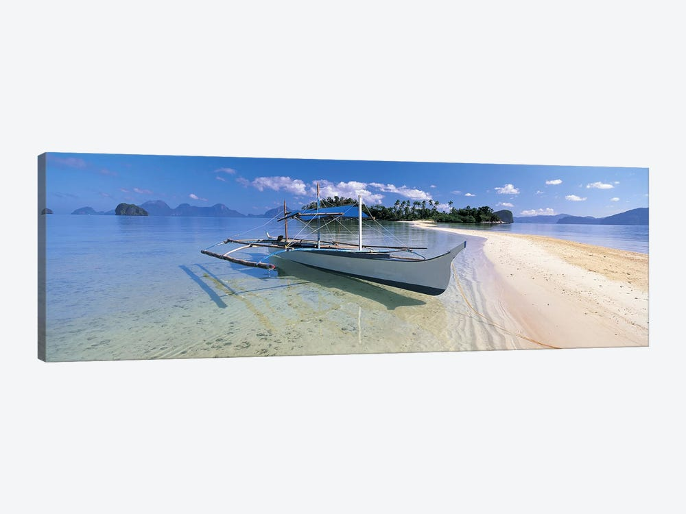Fishing boat moored on the beach, Palawan, Philippines #2 by Panoramic Images 1-piece Canvas Art Print