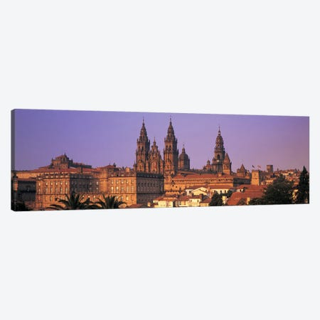 Cathedral in a cityscapeSantiago De Compostela, La Coruna, Galicia, Spain Canvas Print #PIM4878} by Panoramic Images Canvas Artwork