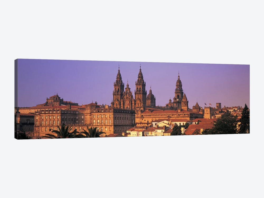 Cathedral in a cityscapeSantiago De Compostela, La Coruna, Galicia, Spain by Panoramic Images 1-piece Canvas Wall Art