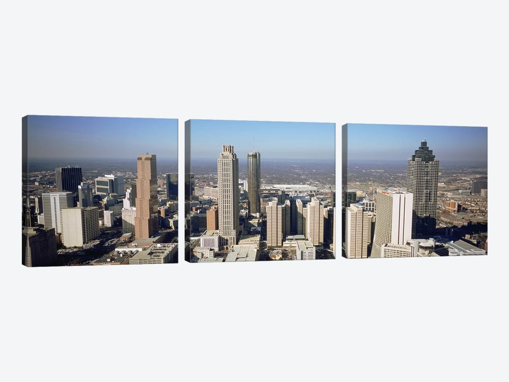 High angle view of buildings in a cityAtlanta, Georgia, USA 3-piece Canvas Wall Art
