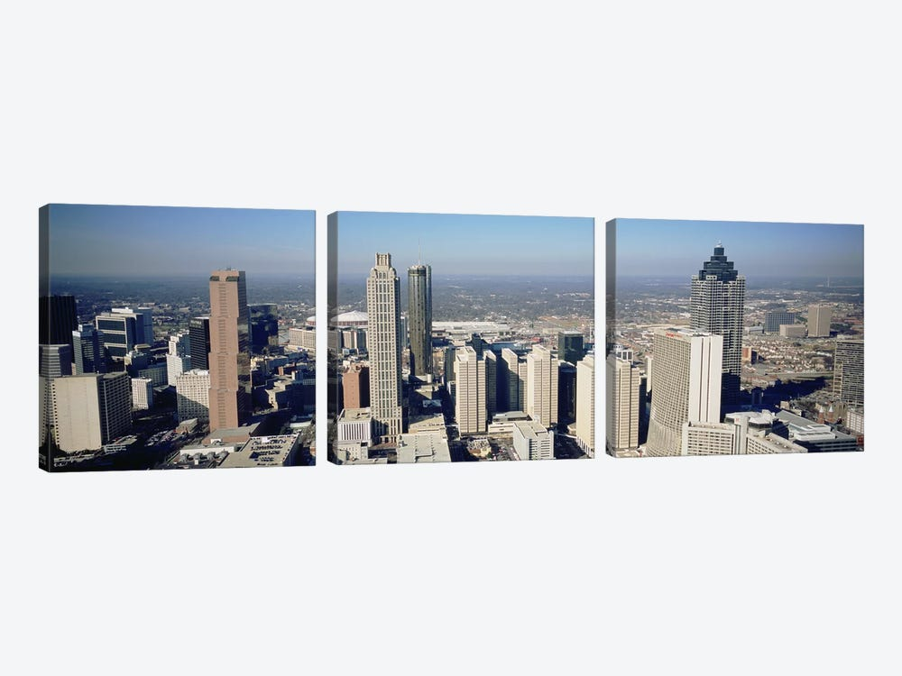 High angle view of buildings in a cityAtlanta, Georgia, USA by Panoramic Images 3-piece Canvas Art Print