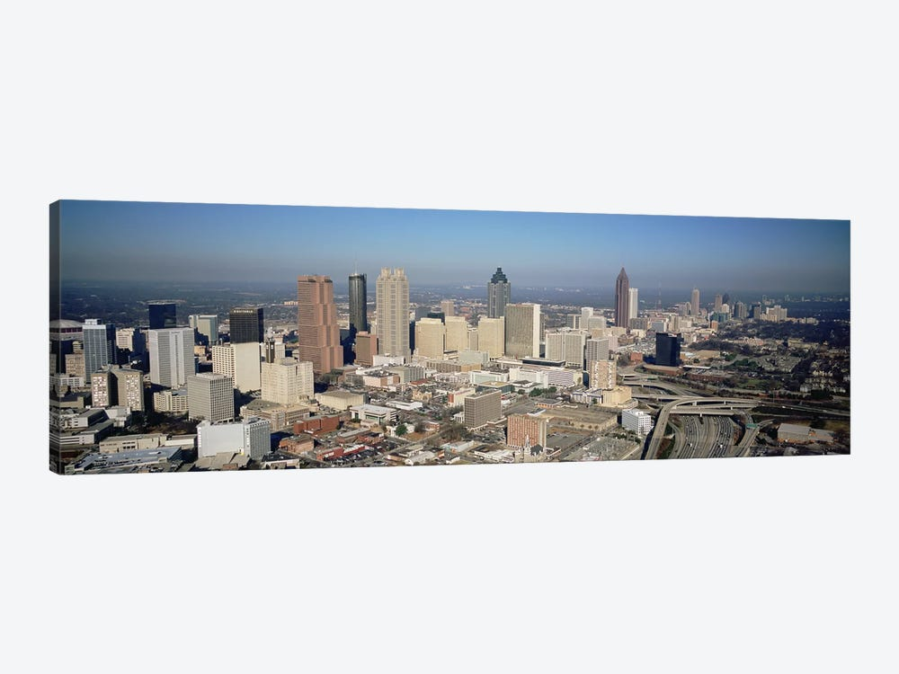 High angle view of buildings in a cityAtlanta, Georgia, USA by Panoramic Images 1-piece Canvas Wall Art