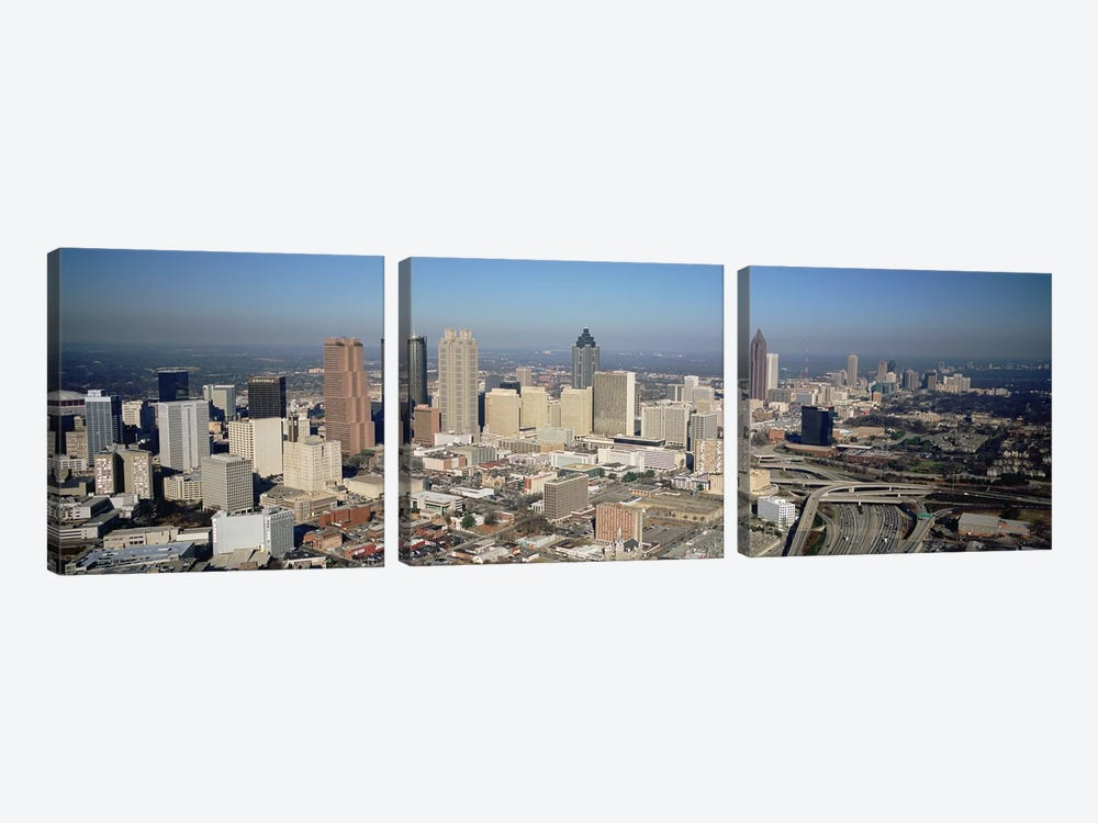 High angle view of buildings in a cityAtlanta, Georgia, USA by Panoramic Images 3-piece Canvas Art