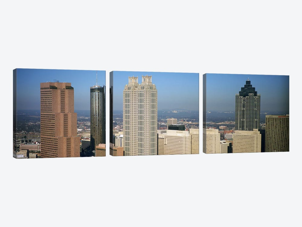 Skyscrapers in a cityAtlanta, Georgia, USA by Panoramic Images 3-piece Canvas Print