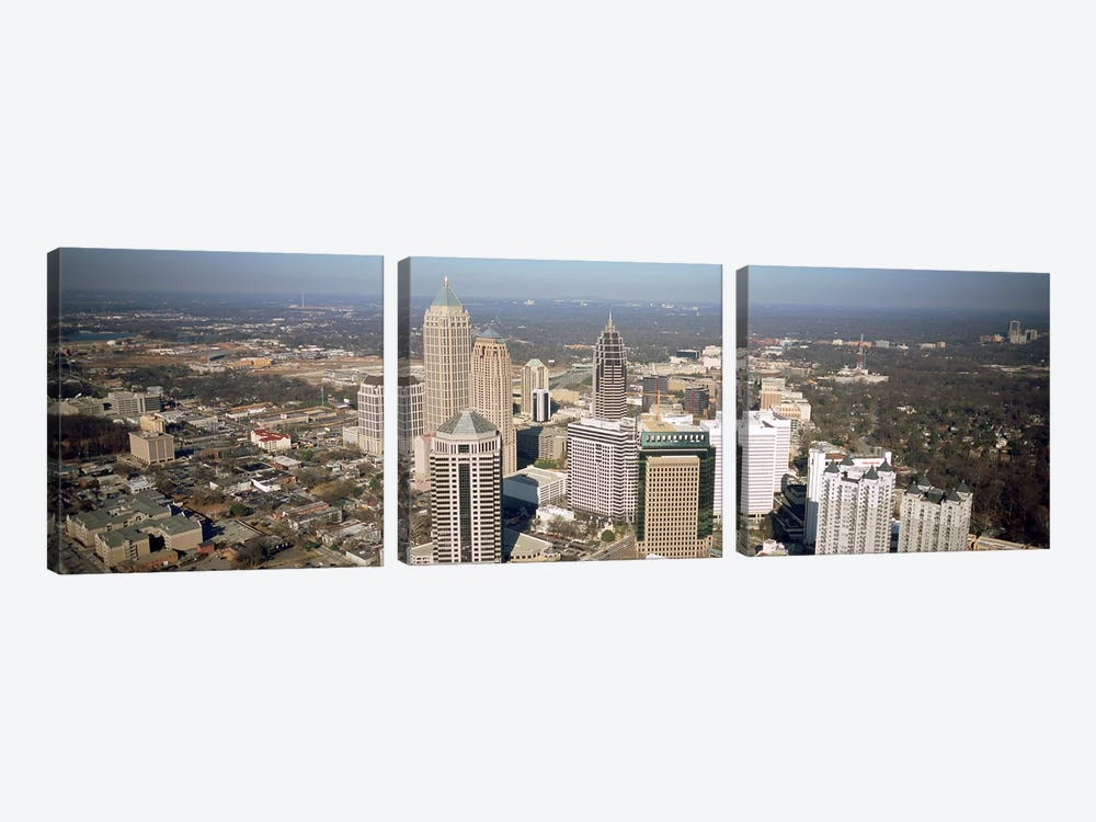 High angle view of buildings in a cityAtlanta, Georgia, USA by Panoramic Images 3-piece Canvas Wall Art