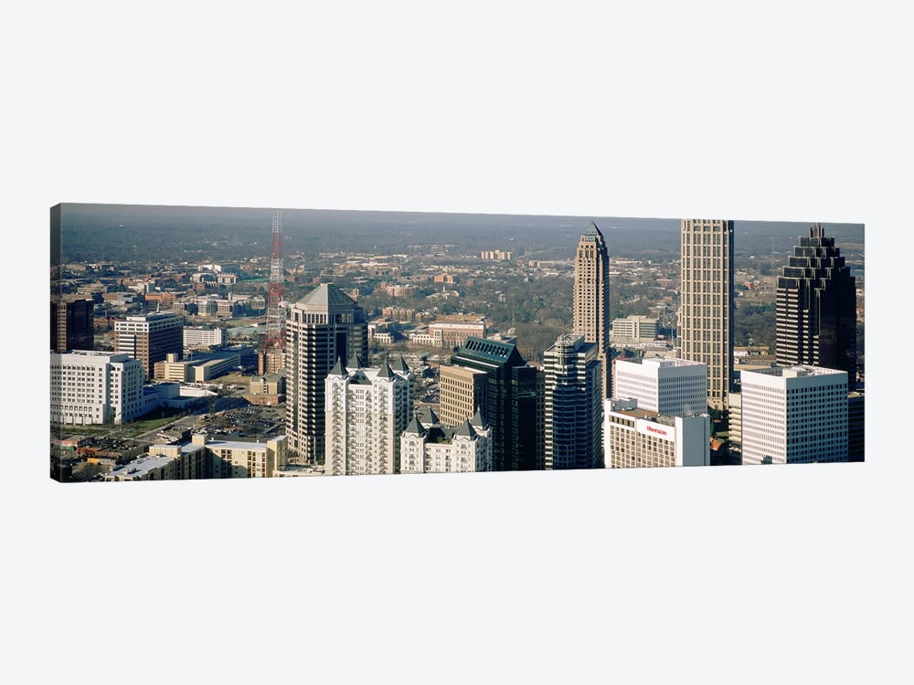 High angle view of buildings in a cityAtlanta, Georgia, USA by Panoramic Images 1-piece Canvas Art Print