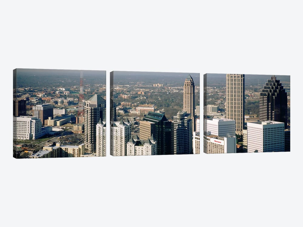High angle view of buildings in a cityAtlanta, Georgia, USA by Panoramic Images 3-piece Art Print