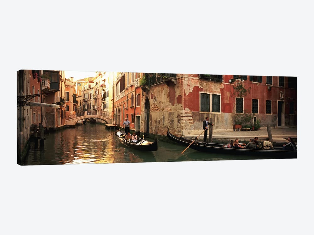 Gondolas Navigating The Canal, Venice, Italy by Panoramic Images 1-piece Canvas Art Print