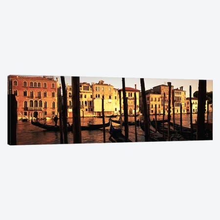 Moored Gondolas In A Canal II, Venice, Italy Canvas Print #PIM4905} by Panoramic Images Art Print