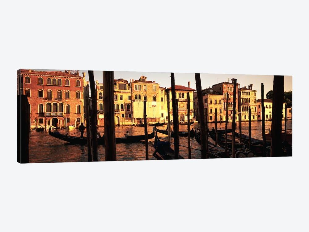 Moored Gondolas In A Canal II, Venice, Italy by Panoramic Images 1-piece Canvas Print