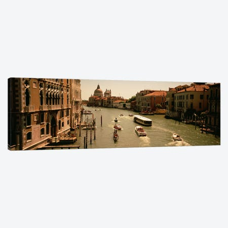 Daytime Activity, Grand Canal, Venice, Italy 3-Piece Canvas #PIM4909} by Panoramic Images Canvas Artwork