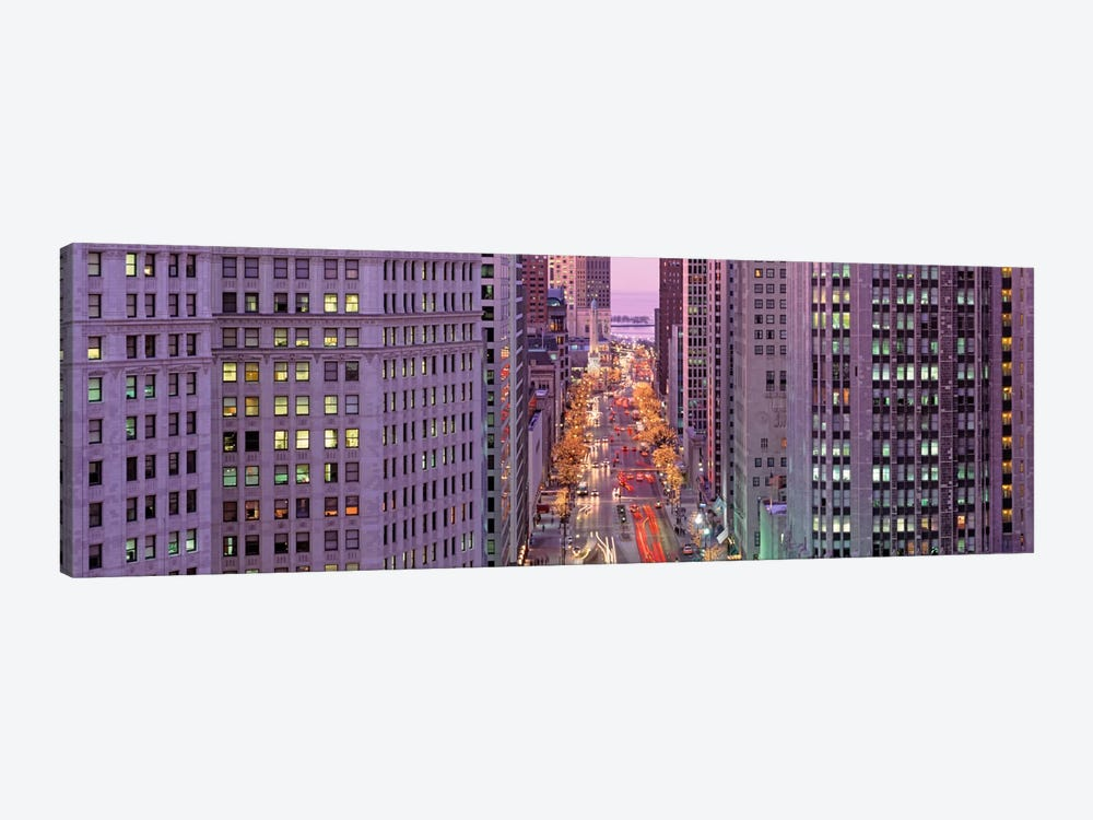 Aerial View Of An Urban Street, Michigan Avenue, Chicago, Illinois, USA by Panoramic Images 1-piece Canvas Wall Art