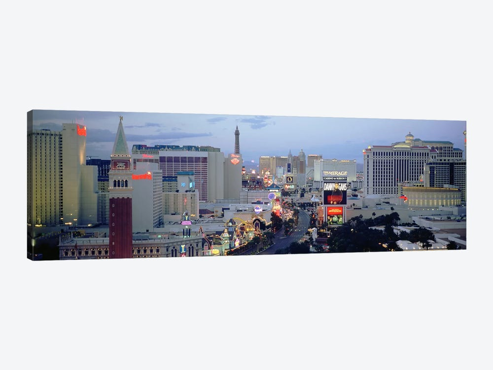 High angle view of buildings in a city, The Strip, Las Vegas, Nevada, USA 1-piece Canvas Art Print