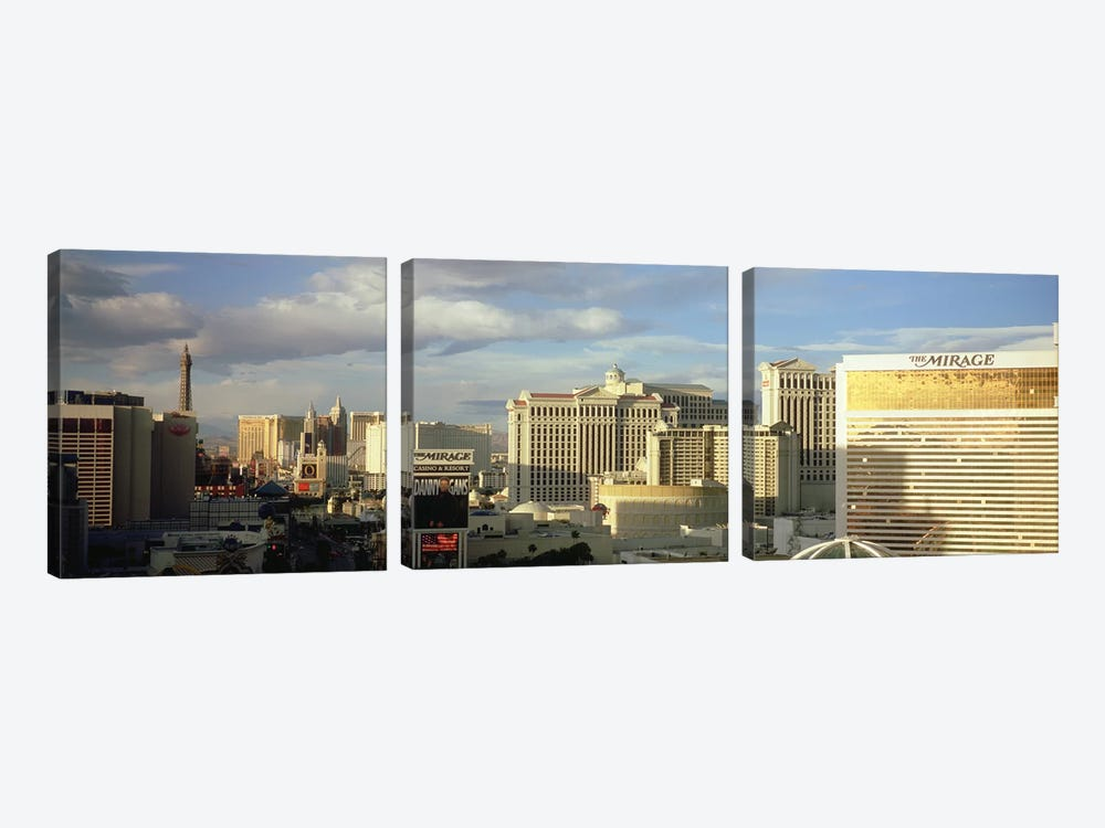 High angle view of buildings in a city, The Strip, Las Vegas, Nevada, USA #2 by Panoramic Images 3-piece Canvas Artwork