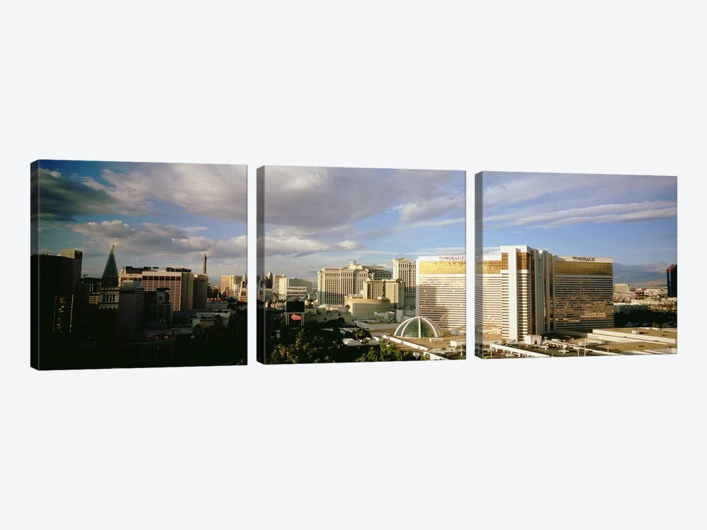 High angle view of buildings in a city, The Strip, Las Vegas, Nevada, USA #3 by Panoramic Images 3-piece Canvas Artwork