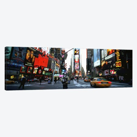 Traffic on a road, Times Square, New York City, New York, USA Canvas Print #PIM4925} by Panoramic Images Canvas Print