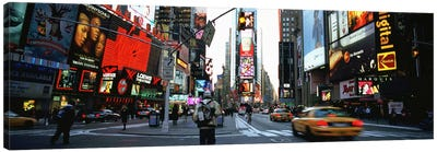 Traffic on a road, Times Square, New York City, New York, USA Canvas Art Print
