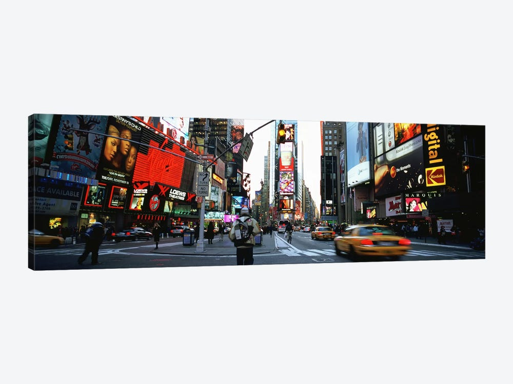 Traffic on a road, Times Square, New York City, New York, USA 1-piece Canvas Art Print