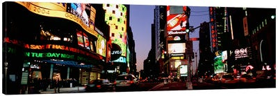 Traffic on a road, Times Square, New York City, New York, USA #2 Canvas Print #PIM4926