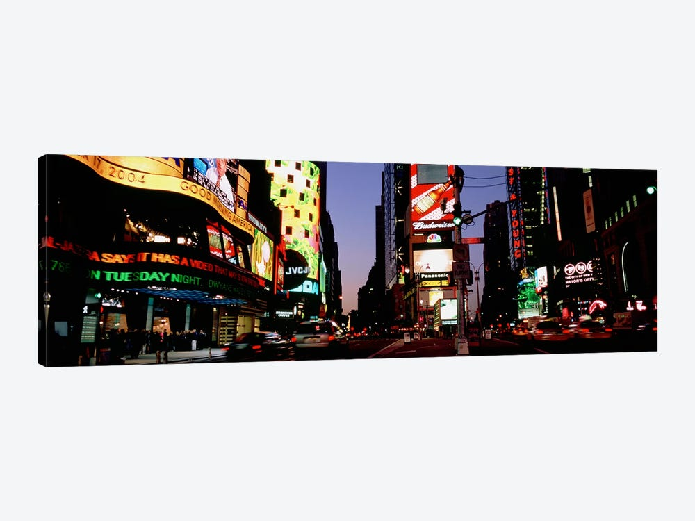 Traffic on a road, Times Square, New York City, New York, USA #2 1-piece Canvas Wall Art