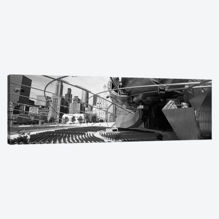 Low Angle View Of Buildings In A City, Pritzker Pavilion, Millennium Park, Chicago, Illinois, USA Canvas Print #PIM4928} by Panoramic Images Canvas Wall Art