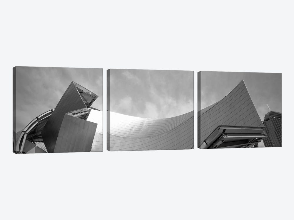 Low Angle View Of A Building, Millennium Park, Chicago, Illinois, USA by Panoramic Images 3-piece Art Print