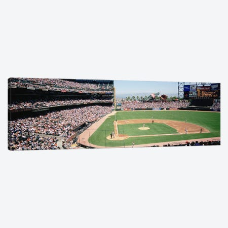 High angle view of a stadium, Pac Bell Stadium, San Francisco, California, USA Canvas Print #PIM4931} by Panoramic Images Canvas Art Print