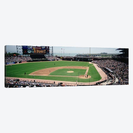 High angle view of a stadium, Pac Bell Stadium, San Francisco, California, USA #3 Canvas Print #PIM4932} by Panoramic Images Canvas Art Print