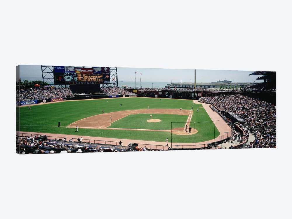 High angle view of a stadium, Pac Bell Stadium, San Francisco, California, USA #3 by Panoramic Images 1-piece Canvas Print