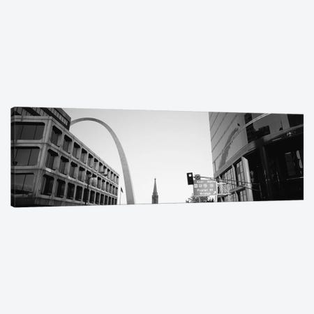 Low-Angle View From 4th Street In B&W, St. Louis, Missouri, USA Canvas Print #PIM4933} by Panoramic Images Canvas Print