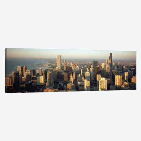 High angle view of buildings in a city, Chicago, Illinois, USA Canvas Print #PIM4940} by Panoramic Images Canvas Art