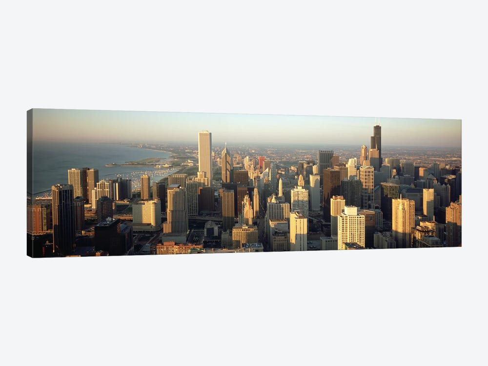 High angle view of buildings in a city, Chicago, Illinois, USA by Panoramic Images 1-piece Canvas Art