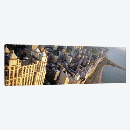 High angle view of a highway along a lake, Lake Shore Drive, Chicago, Illinois, USA Canvas Print #PIM4941} by Panoramic Images Canvas Wall Art