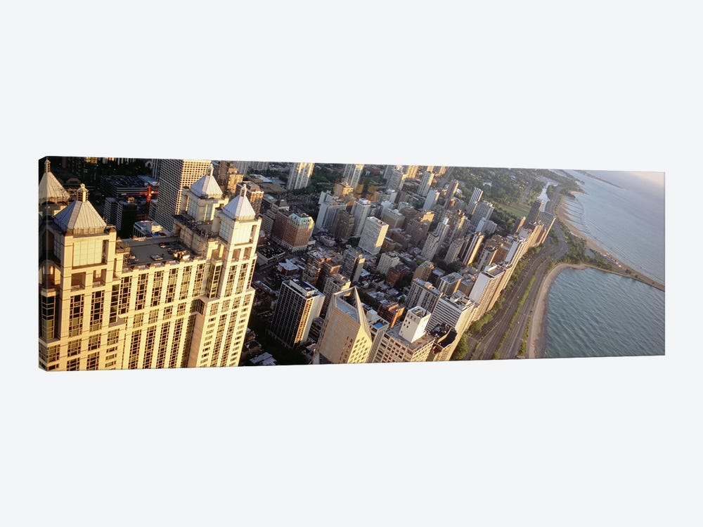 High angle view of a highway along a lake, Lake Shore Drive, Chicago, Illinois, USA by Panoramic Images 1-piece Art Print