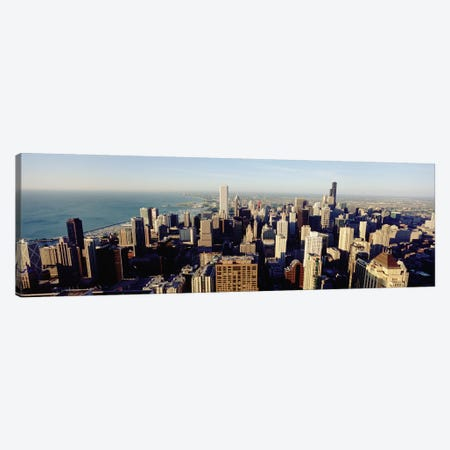 High angle view of buildings in a city, Chicago, Illinois, USA #2 Canvas Print #PIM4942} by Panoramic Images Canvas Artwork