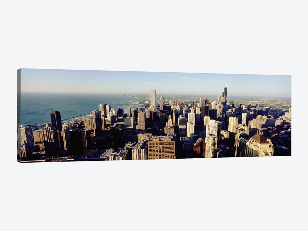 High angle view of buildings in a city, Chicago, Illinois, USA #2 by Panoramic Images 1-piece Canvas Wall Art