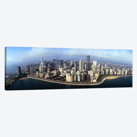 High angle view of buildings at the waterfront, Chicago, Illinois, USA Canvas Print #PIM4943} by Panoramic Images Canvas Artwork