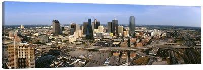 Aerial view of a city, Dallas, Texas, USA Canvas Art Print
