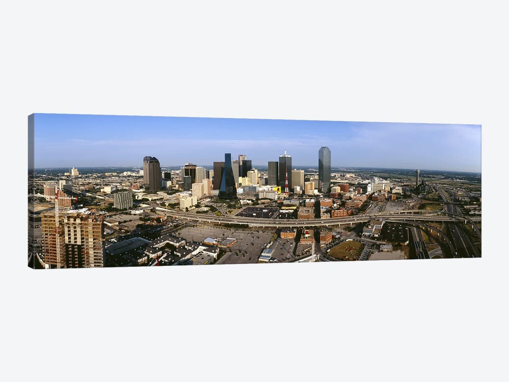 Aerial view of a city, Dallas, Texas, USA 1-piece Canvas Artwork