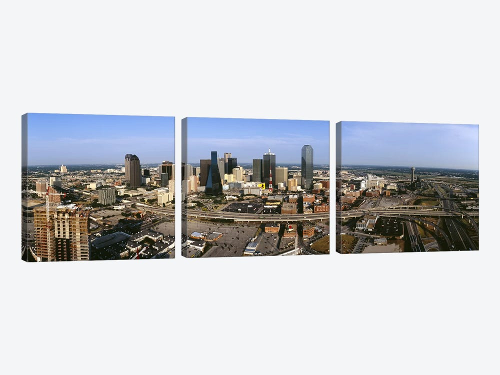 Aerial view of a city, Dallas, Texas, USA by Panoramic Images 3-piece Canvas Artwork