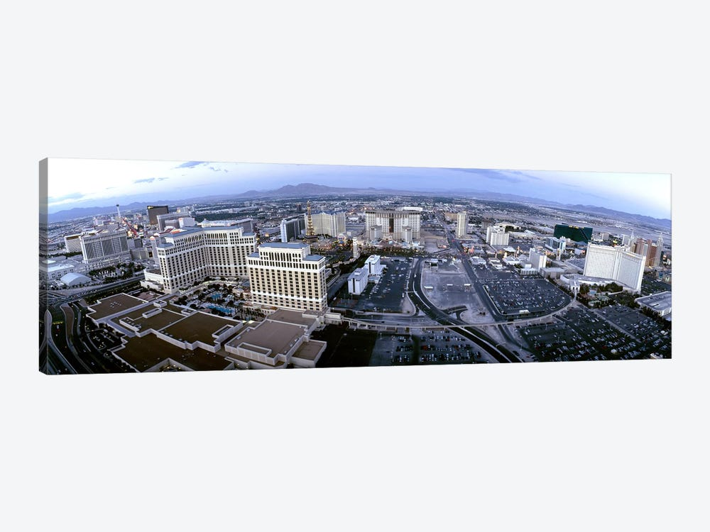 Aerial view of a city, Las Vegas, Nevada, USA by Panoramic Images 1-piece Canvas Print