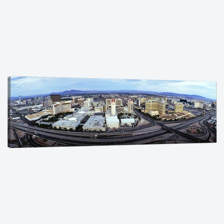 Aerial view of a city, Las Vegas, Nevada, USA #2 Canvas Print #PIM4946} by Panoramic Images Art Print