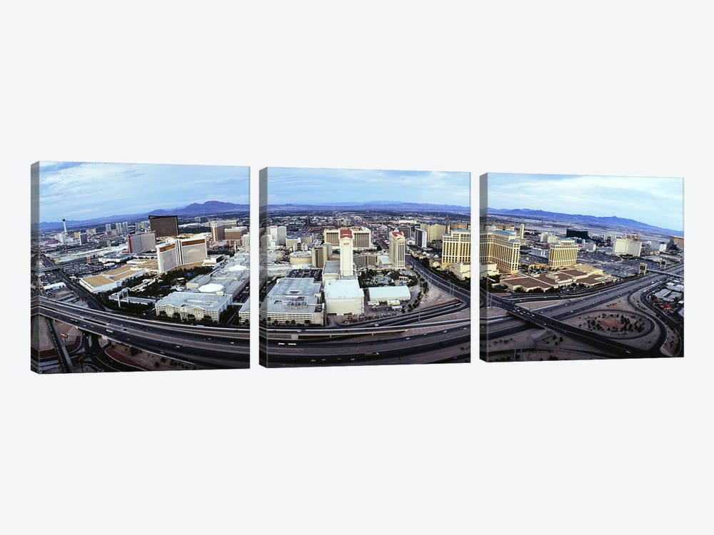 Aerial view of a city, Las Vegas, Nevada, USA #2 by Panoramic Images 3-piece Canvas Art
