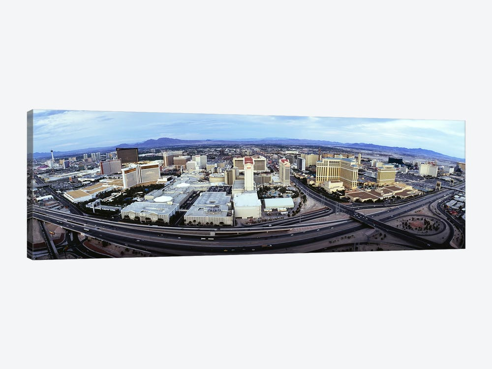 Aerial view of a city, Las Vegas, Nevada, USA #2 by Panoramic Images 1-piece Canvas Artwork