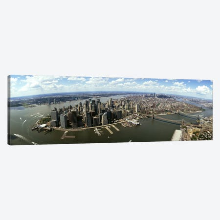 Aerial view of buildings in a city, New York City, New York State, USA Canvas Print #PIM4948} by Panoramic Images Canvas Art
