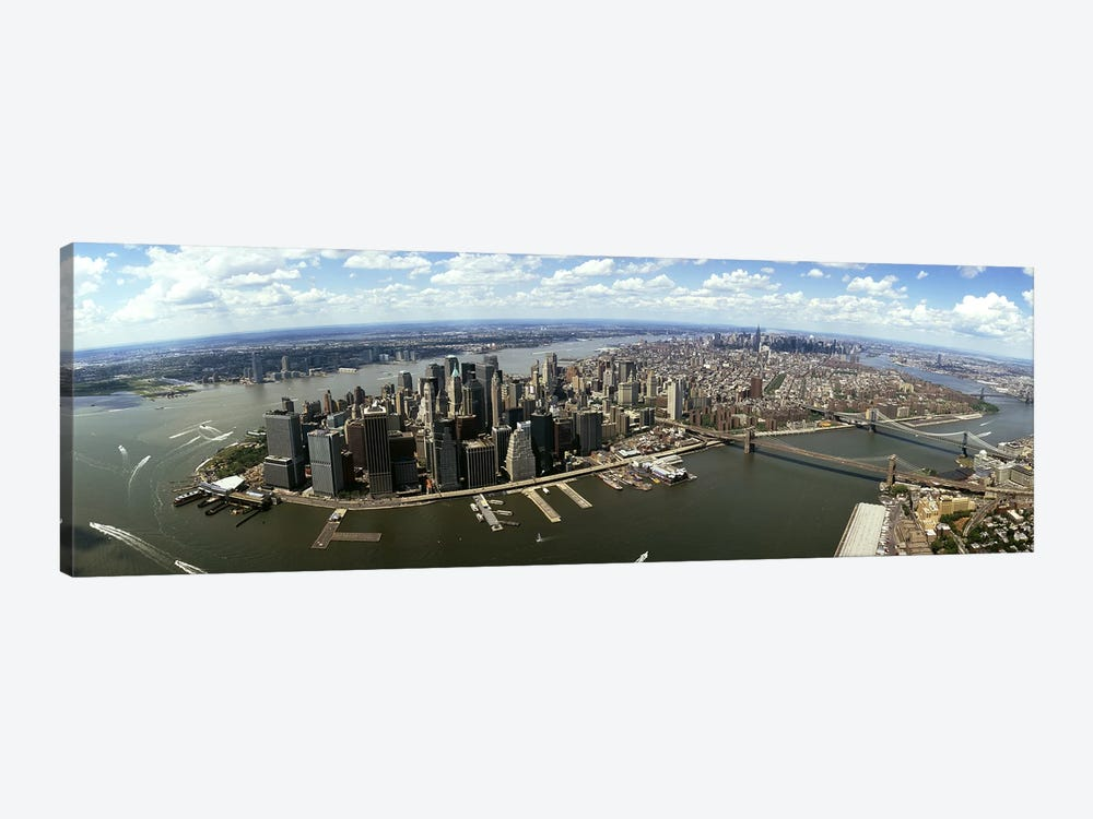 Aerial view of buildings in a city, New York City, New York State, USA by Panoramic Images 1-piece Canvas Artwork