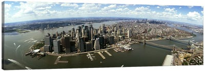 Aerial view of buildings in a city, New York City, New York State, USA Canvas Art Print